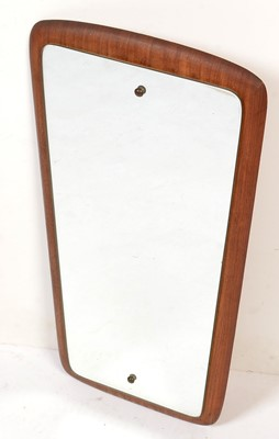 Lot 767 - Globe Brand Mirrors: a teak-backed mirror with tapered frame.