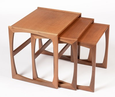 Lot 790 - G-Plan: a nest of three 'Quadrile' pattern occasional tables