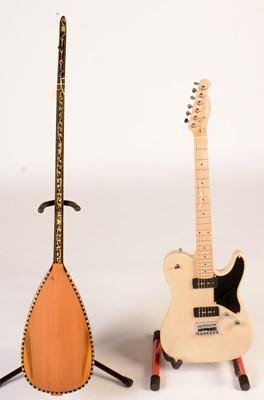 Lot 326 - telecaster style guitar, Bouzouki
