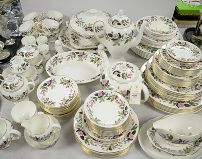 Lot 426 - An extensive Wedgwood 'Hathaway Roses' pattern dinner service.