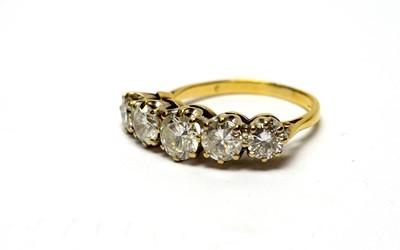 Lot 5 - A five stone diamond ring