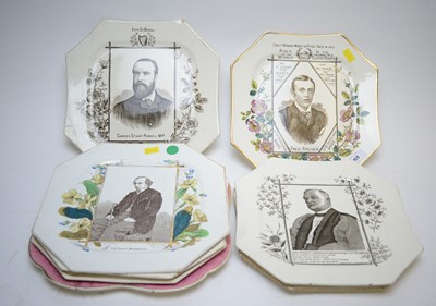 Lot 265 - A Collection of seven Victorian plaques and another.
