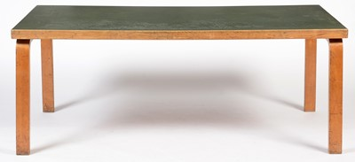 Lot 74 - Alvar Aalto for Finmar Ltd, a birch and plywood dining table