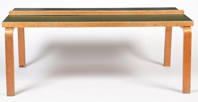 Lot 75 - Alvar Aalto for Finmar Ltd, a birch and plywood dining table