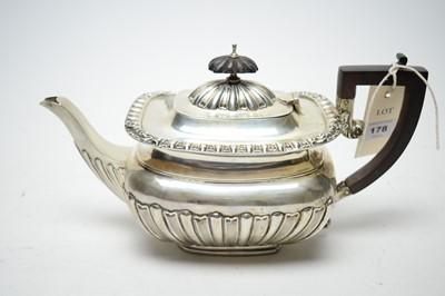 Lot 178 - A silver teapot
