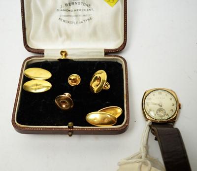 Lot 174 - Cufflinks, shirt studs and a wristwatch