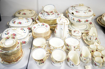 Lot 307 - A Wedgwood 'Chinese Flowers' part dinner service.