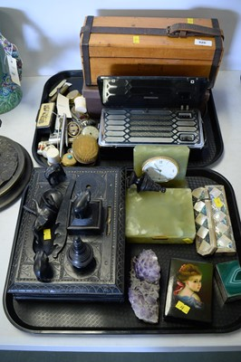 Lot 326 - A selection of desk and dressing table accessories.