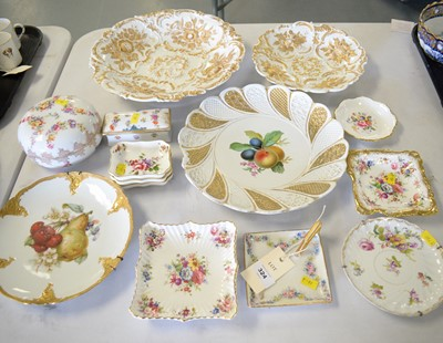 Lot 324 - A selection of ceramics including Meissen and Royal Crown Derby.