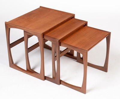Lot 798 - G-Plan: A nest of  'Quadrile' pattern occasional tables