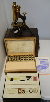 Lot 330 - Student's Microscope; and a B.B.H. Spot Test Outfit, and a collection of samples.