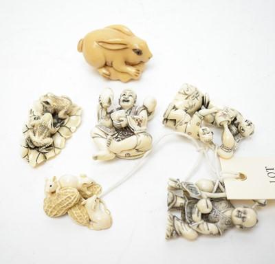 Lot 500 - Collection of Japanese netsuke.