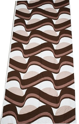 Lot 1021 - Vintage Fabric: a roll of brown & white swirl printed fabric
