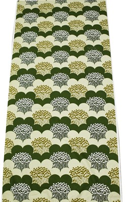 Lot 1027 - Vintage Fabric: a roll of vintage printed fabric
