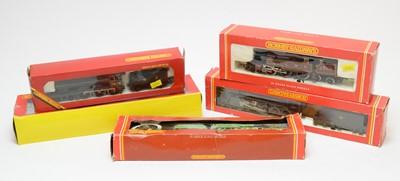 Lot 859 - Five boxed Hornby Railways 00-gauge model locomotives and tenders.