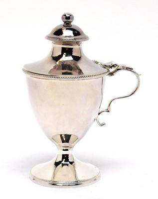 Lot 137 - A George III silver pedestal mustard