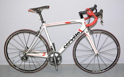 Lot 523 - A Cervelo RS carbon-framed road bicycle