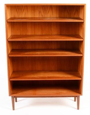 Lot 76 - A mid 20th Century teak open bookcase.