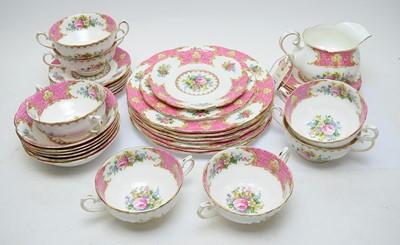 Lot 421 - Royal Albert 'Lady Carlyle' pattern part dinner service