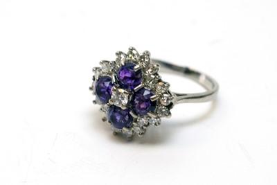 Lot 152 - Amethyst and diamond ring