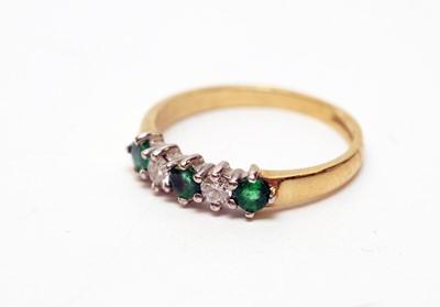 Lot 157 - Emerald and diamond ring