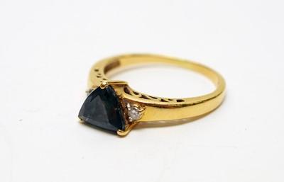 Lot 166 - Alexandrite and diamond ring