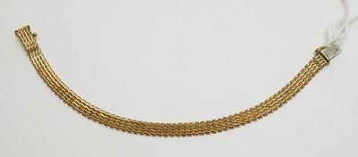 Lot 176 - 14ct yellow gold bracelet