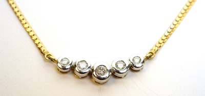 Lot 185 - Diamond necklace