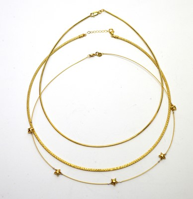 Lot 191 - Three gold necklaces