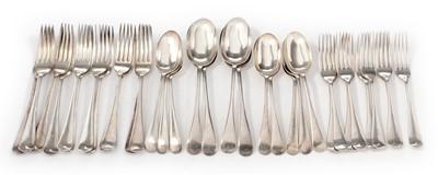 Lot 196 - A George VI silver cutlery suite