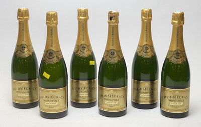 Lot 12 - Champagne Heidsieck & Co Monopole Gold Top 1997(x5) and 1996(1)