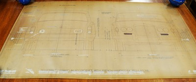 Lot 264 - Rolls Royce French adaptation vehicle spec drawings.