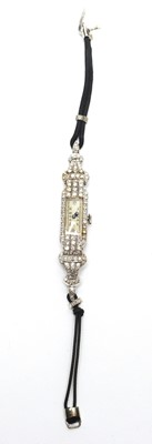 Lot 126 - Art Deco diamond cocktail watch by Vertex