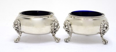 Lot 175 - A pair of Victorian silver salts