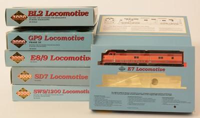 Lot 1 - Six Proto 2000 Series locomotive sets.