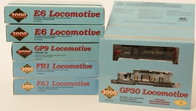 Lot 4 - Six Proto 2000 Series HO-gauge locomotives.