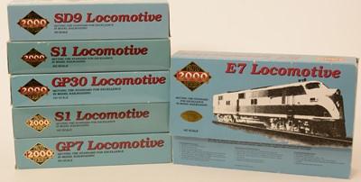 Lot 5 - Six Proto 2000 Series HO-gauge locomotives.