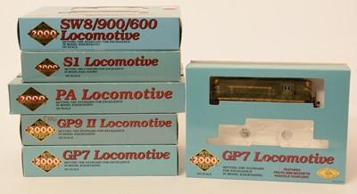 Lot 6 - Six Proto 2000 Series HO-gauge locomotives.