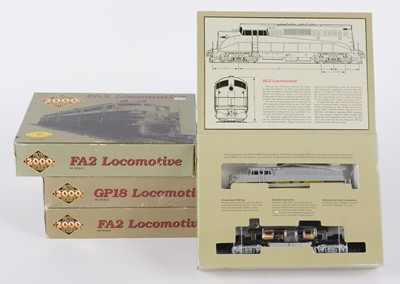 Lot 7 - Proto 2000 Series HO-gauge locomotives; and a Proto 2000 Heritage Scene.