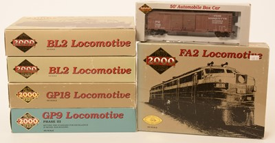 Lot 8 - Five Proto 2000 Series H0 scale locomotives.