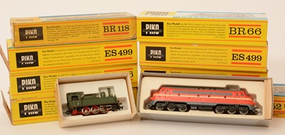 Lot 14 - Piko HO-gauge locomotives.