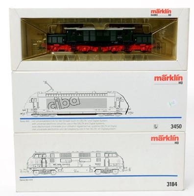 Lot 19 - Three Märklin HO-gauge locomotives.