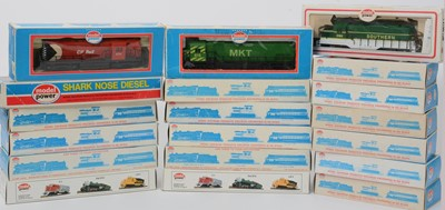 Lot 25 - Model Power locomotive and rolling stock.