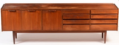 Lot 51 - A mid Century teak sideboard in the 'Long Tom' style.