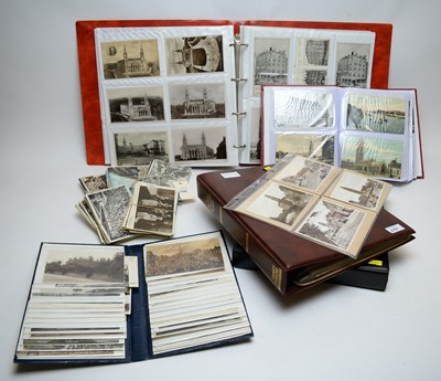 Lot 296 - Selection of postcard albums and loose postcards