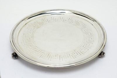 Lot 142 - A Victorian silver salver