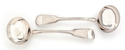 Lot 144 - A pair of Georgian silver ladles