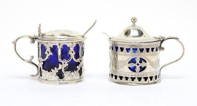 Lot 147 - Two silver mustard pots