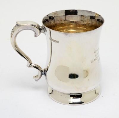 Lot 191 - A silver tankard