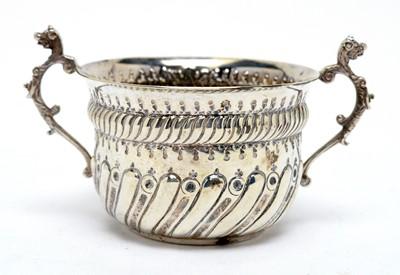 Lot 151 - Queen Anne style silver porringer
